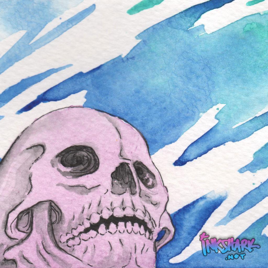 Skull Study - Manganese & Lavender